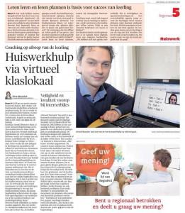 Online huiswerkbegeleiding Gooi en Eemlander